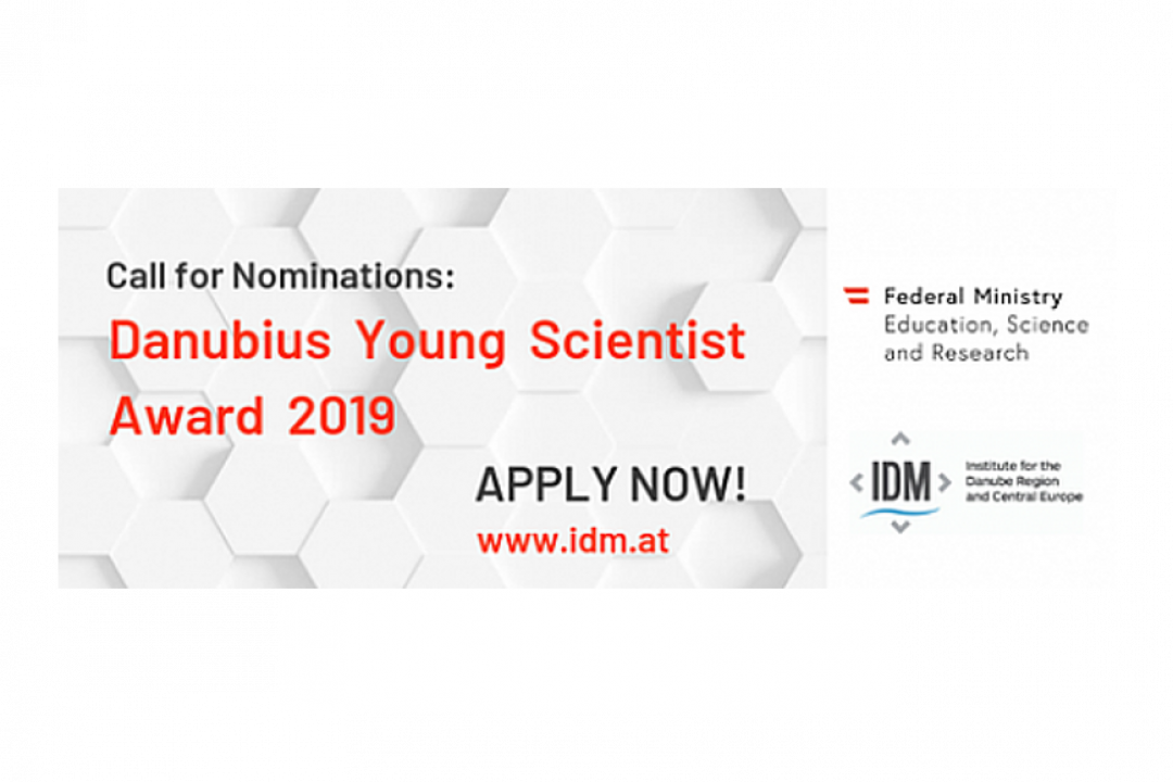 CALL FOR NOMINATIONS – DANUBIUS YOUNG SCIENTIST AWARD 2019