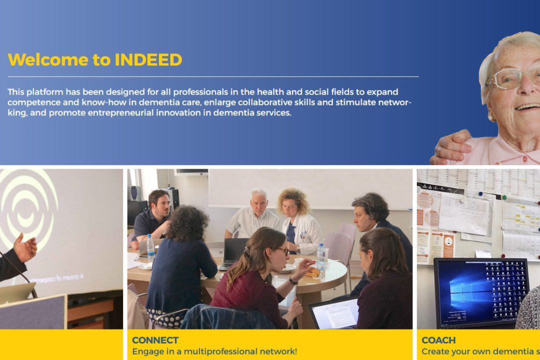The INDEED project online learning platform for professional groups involved in the care of people with dementia